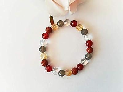 bracelet agate, bracelet cristal de roche, bracelet jaspe, bracelet citrine, bracelet digestion, bracelet mala, bracelet pierres naturelles, cadeau noel