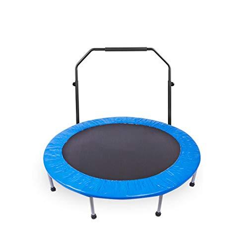 48-Zoll-Faltbare Taillen-Trommel-Frühlings-tragendes Starkes Trampolin, Erwachsen-Turnhallen-Trampolin, Kinderunterhaltungs-Federelement-springendes Bett (Color : with armrests)