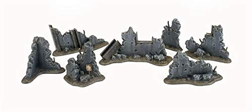 War World Gaming War-Torn City Bauschutt Set - 28mm Tabletop Gelände Modellbau Diorama Warhammer - Tabletop Gaming