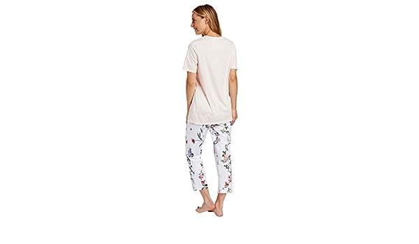 Oberteil Schlafanzug T-Shirt Damen Kurzarm R/ösch 100/% Baumwolle