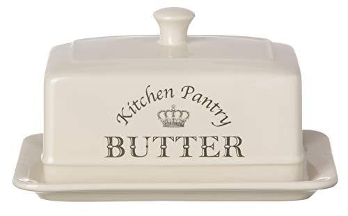 Majestic Beurrier recouvert de céramique avec couvercle Crème