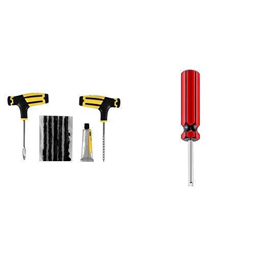 ONEVER Auto-Reifen-Reparatur-Tools Patch-Kit Auto Tubeless Vacuum für Auto-LKW-Motorrad-Auto Beruf Zubehör (1pcs) (Auto-reifen-reparatur-kit)