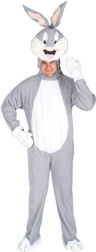 Party Street Bugs Bunny-Lizenzkostüm für Erwachsene Looney Tunes grau-Weiss - Bugs Bunny Kostüm Für Erwachsene