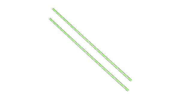 Festes Acryl Rundstab Spiral Gr/ün Linie PMMA Stange 10mmx500mm sourcing map 2Stk