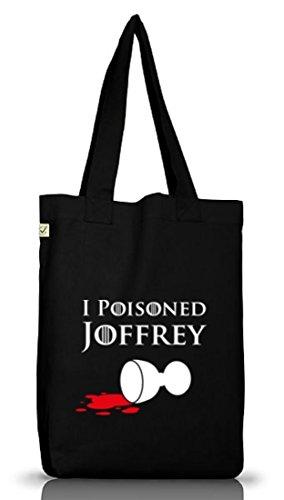 Shirtstreet24, I Poisoned Joffrey, Jutebeutel Stoff Tasche Earth Positive (ONE SIZE) Black