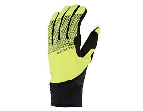 Altura Men's Nightvision 4 Windproof Gloves, Hi-Viz Yellow/Black, Large