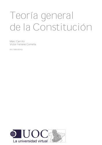 Teoría general de la Constitución por Marc Carrillo