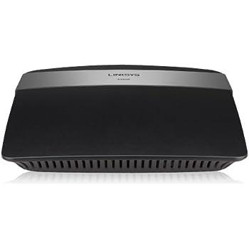 Linksys E2500-EW - Router inalámbrico de doble banda N600 (N300 + N300 Mbps, 4 puertos Fast Ethernet, instalación fácil, control parental, acceso para invitados), negro