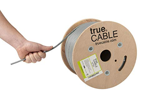 Cat6-riser (TrueCABLE Cat6-Riser (CMR), 152,4 m, 23 AWG, 4 Paar, massives Kupfer, 550 MHz, ETL-gelistet, ungeschirmtes Twisted Pair UTP, Bulk Ethernet-Kabel grau grau 500ft)