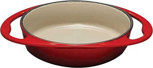 Le Creuset Gusseisen Tartin-Backform, Oval, Ø 25 cm, Für alle Herdarten inkl. Induktion geeignet, 2,13 kg, Kirschrot