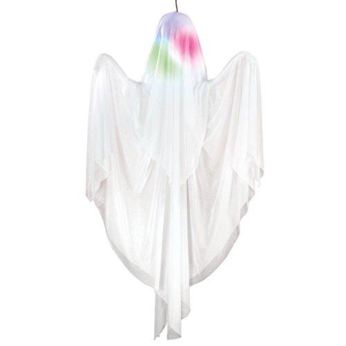 Rotierendes aufleuchtendes Gespenst 1,5m - Halloweendeko Requisite (Outdoor-deko-ideen Billig Halloween)