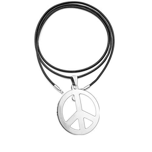 rmetall mit Lederkette zum Aufhängen als Halskette, 1960er Jahre der Hippie-Partyzubehör-Halskette ()
