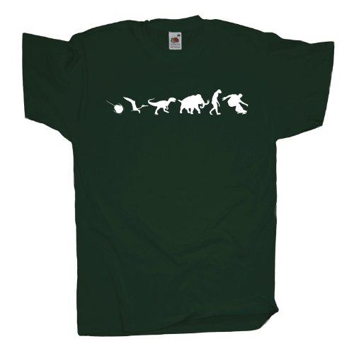 Ma2ca - 500 Mio Years - Skateboarder T-Shirt Bottle Green