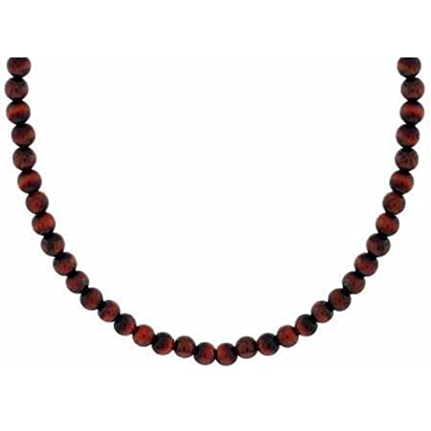 4 mm in argento Sterling, motivo: Red Tiger Eye-pietra, 15-48,26 cm (19