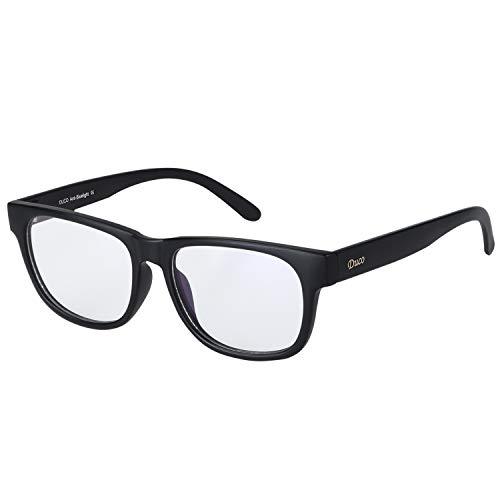 DUCO Gamer Brille Computerbrille Blaulicht Blendschutz Anti-Erschöpfung UV Schutzbrille für Smartphone Computer oder Fernseherbildschirm 2142T