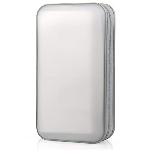 CD/DVD Tasche DVD Lagerung DVD Case VCD Wallets Speicher Organizer Hard Plastik Schutz DVD Lagerung (Purple) (Weiß) ()