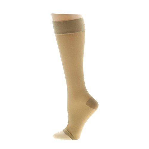 c11b9cb2f13 Venosan VenoSheer Open Toe Knee Highs -20-30 mmHg Silky Nude Small 6201102