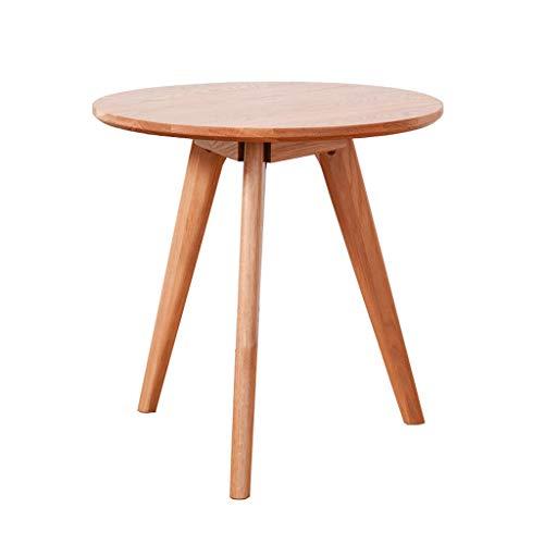 Betty Tabelle Wohnzimmer Büro Runde Holz Farbe Kleine Beistelltisch Schneller Esstisch Schreibtisch Flur Möbel, 50x50 cm (Beistelltisch Büro Kleines)