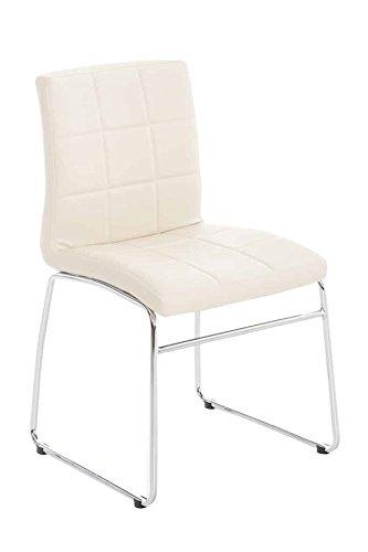 PEGANE Chaise de visiteurs avec siège en Polyuréthane Coloris crème - 52 x 51 x 85 cm