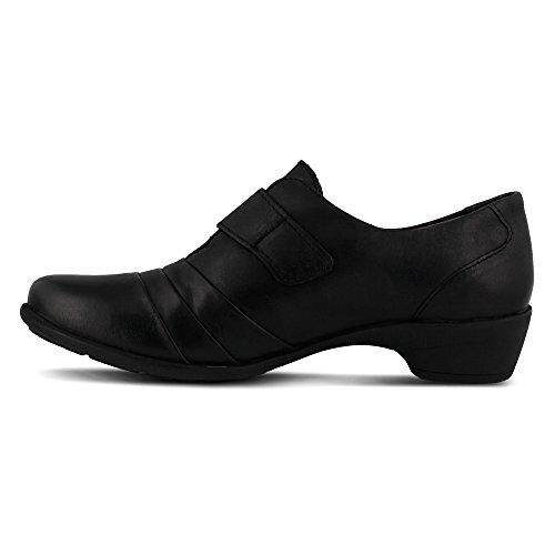 Spring Step Sintra Femmes Cuir Mocassin Black