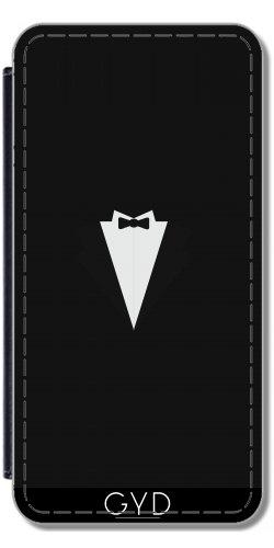 Leder Flip Case Tasche Hülle für Microsoft Lumia 520 - Rauchen by ilovecotton (Tuxedo-anzug Tie)