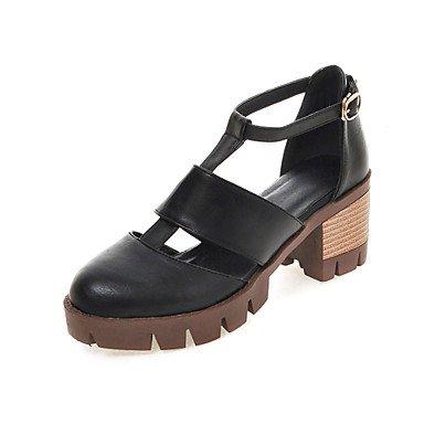 Zormey Frauen Schuhe Chunky Fersen/D'Orsay & Amp Zweiteilige/Gladiator Heels Party & Amp Abend-/Kleid Schwarz/Braun/Grau/Mandel US9.5-10 / EU41 / UK7.5-8 / CN42