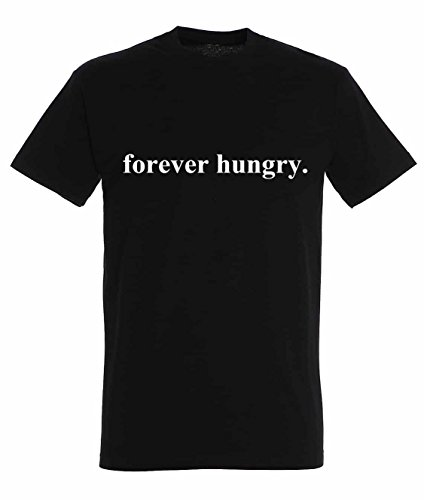 forever-hungry-awesome-funny-food-theme-design-tee-men-herren-black-t-shirt-tee
