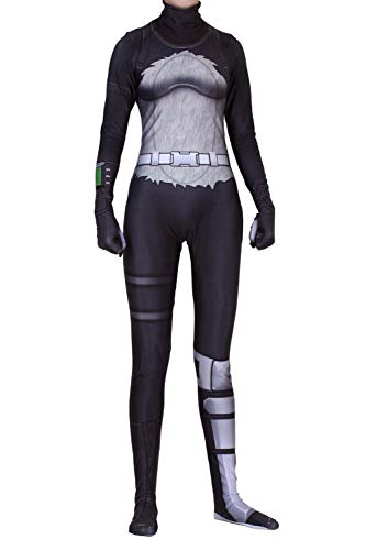 RedJade Festung Panda Bär Outfit Cosplay Kostüm Halloween Bodysuit Catsuit Jumpsuit Overall Erwachsene Damen XS