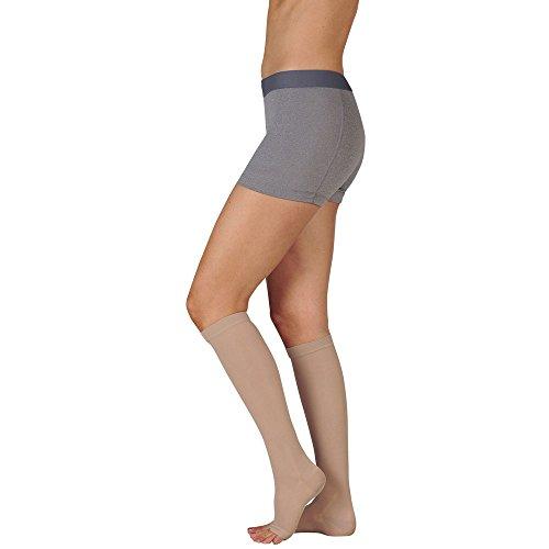 Juzo Varin Knee High Open Toe Short 20-30mmHg, V, Beige by Juzo -