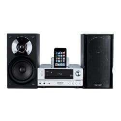 Sharp XLHF200PHS Kompaktananlage (Apple iPhone/iPod Dock, USB 2.0) silber
