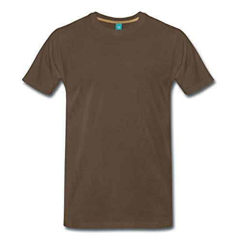 Spreadshirt Engel Flügel Männer Premium T-Shirt, 5XL, Edelbraun