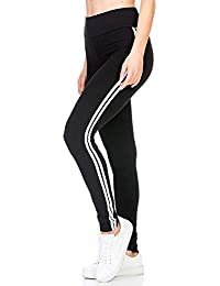 0208743b INFISPACE Women's Blended Sporty Double Line Yoga Gym and Sports Cropped  Jegging (SHAD33-1058
