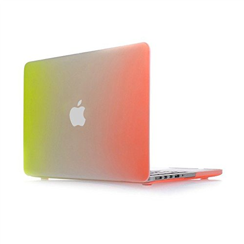 """Price comparison product image Masino® Rainbow Gradient Hard Case Cover for US Chinese VERSION Macbook Air 11"""" A1370 and A1465 DO NOT FITS FOR EUROPE VERSION (Macbook Air 11"""" A1370 and A1465, Rainbow Gradient-Yellow to Orange)"""