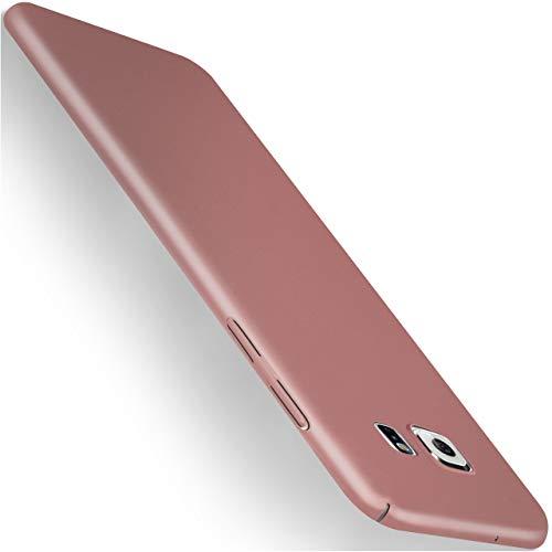 moex Samsung Galaxy S7 | Hülle Rose-Gold Alpha Back-Cover TPU Schutzhülle Dünn Handyhülle für Samsung Galaxy S7 Case Ultra-Slim Thin Skin Handy Schutz Rückseite