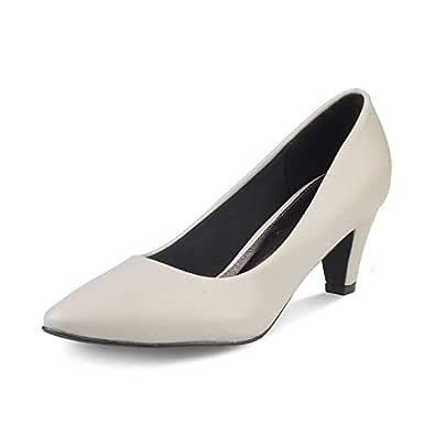 tresmode Women Pumps with Heel Grey