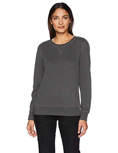 Amazon Essentials French Terry Crewneck Sweatshirt, charcoal heather, US L (EU L - XL) (Charcoal Sweatshirt)
