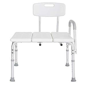 Taburete de ducha de aleación de aluminio, silla de baño desmontable Asiento de bañera de transferencia de altura…