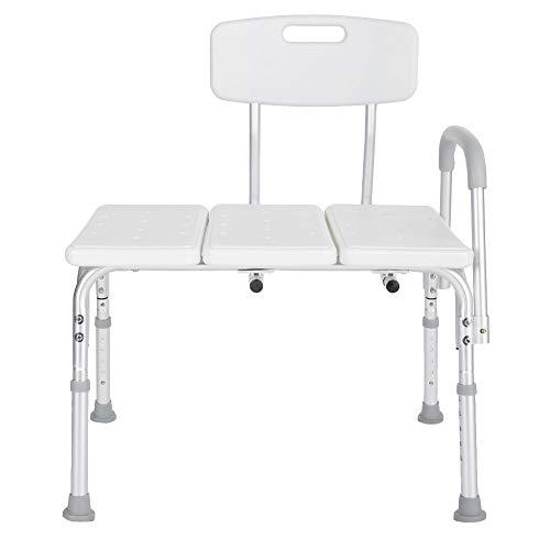 Duschsitz, Aluminiumlegierung Einstellbare rutschfeste abnehmbare Badewanne Duschsitz Hocker für schwangere ältere Menschen mit Behinderung
