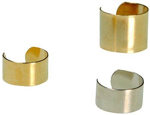 Immerschön 3-er-Set Piraten-Ohrringe goldfarbig silberfarbig passend für alle ()