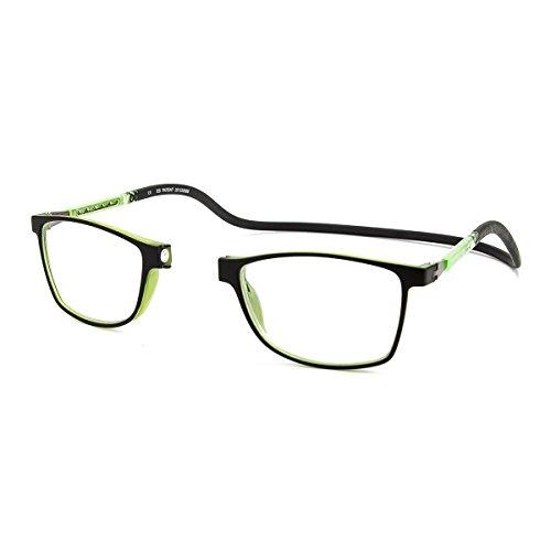 Preisvergleich Produktbild Lesebrille Slastik Camden 010 Computerbrille mit Doppelspritzstab - Farbe: Schwarz - Brillenwerte: +1.0