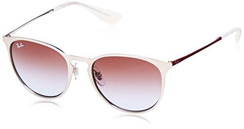 RAYBAN JUNIOR Unisex-Erwachsene Sonnenbrille Erika Metal Brushed Silver/Lightbluegradientviolet, 54