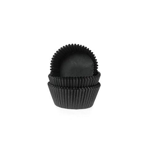 60 mini Muffinförmchen, schwarz