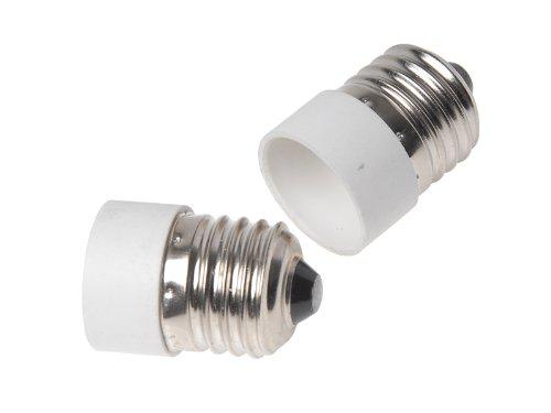 tinxi® 2x E27-E14 Adattatore base della lampada E27 a E14 adattatore base della lampada E27 a E14 della lampada della luce della lampada alogena lampadine Adapter