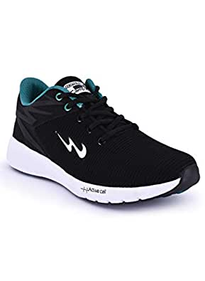 Campus Men's Royce-2 Blk/T.Blu Running Shoes-9 UK/India (43 EU) (CG-248)