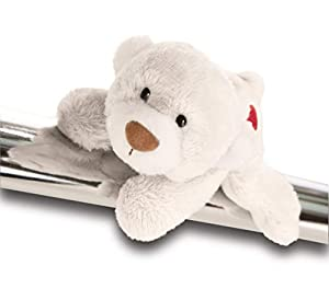 NICI Love Magnettier Bär weiß mit Herz, 12 cm Classic 2018-2019 Magnetic Bear White with Heart, Color Blanco 42602