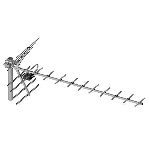 PNI PNI-19DB-DVB TV-Antenne, Yagi 14 dB DVB-T2 im Freien Grau