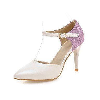 LvYuan Damen-Sandalen-Outddor Büro Lässig-PU-Stöckelabsatz-Andere-Blau Rosa Weiß Pink