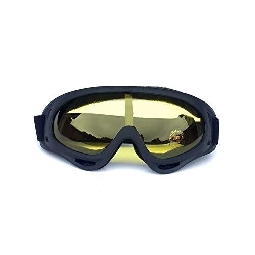 Sportsonnenbrille Damen Outdoor Sportbrillen Motorrad Sandstrahl Reiten Brille Ski Brille Helm Brille Black Yellow Damen Herren