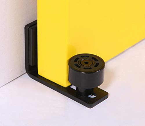 Einstellbar Bodenführung Wand/Tür Unterseite Schiebetür Bodenführung, Schwarz
