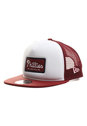 New Era Emblem Foam 9Fifty Snapback Cap PHILADELPHIA PHILLIES Bordeaux Weiß, (Philly Hats)